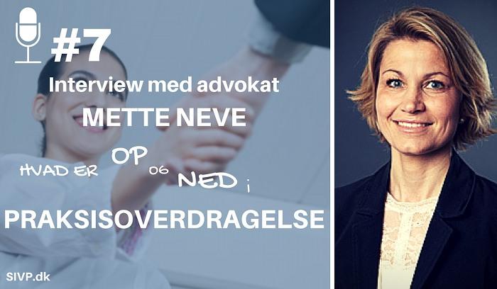 Advokat Mette Neve forklarer om detaljerne ved praksisoverdragelse for dyrlæger