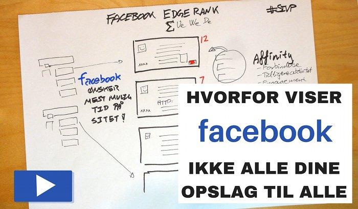 hvorfor får alle ikke mine opslag på facebook og hvad er edge rank