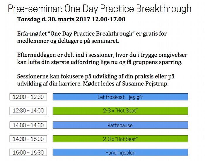 one day practice breakthrough 2017