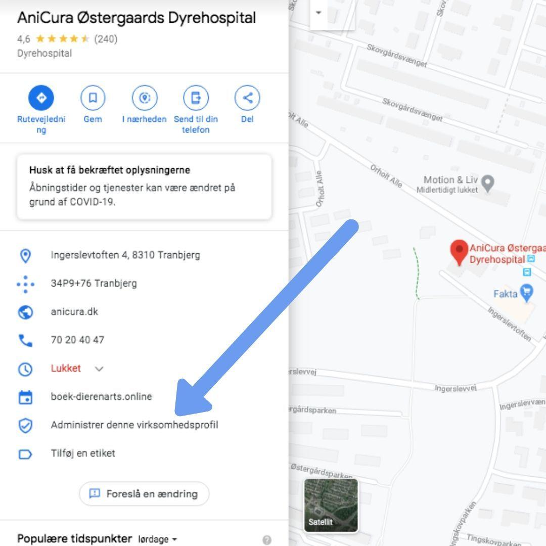 Klik her for at tage kontrol over dit firma på google