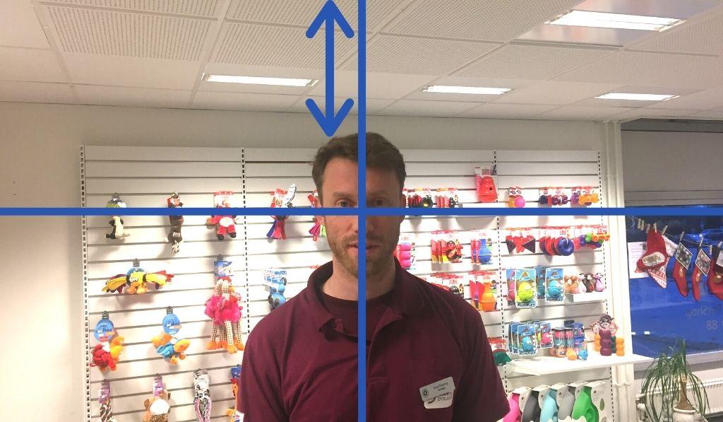 Videoekspert Thomas Martinsen peger på den klassiske fejl at man placere hovedet lige midt i billedet. det gier dårlige videoer til nettet